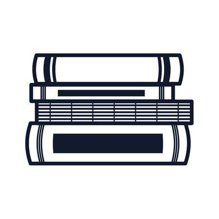 本のイラストのスタック。  イラスト・ベクター素材