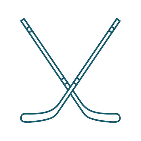 A hockey sticks illustration.