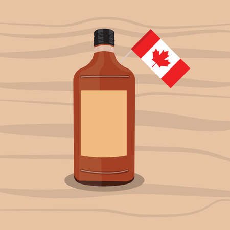 A canadian whisky bottle illustration.