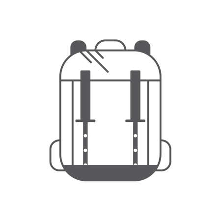A backpack illustration. Stock Vector - 81484641