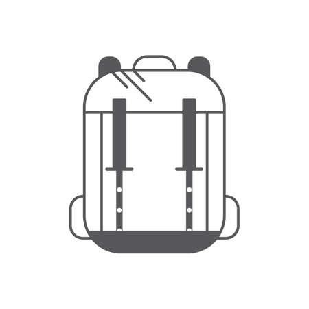 A backpack illustration. Illustration