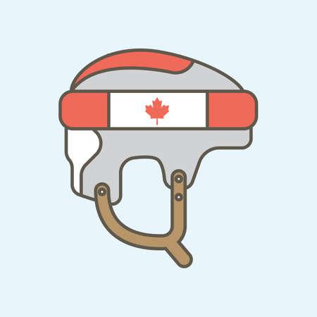 하키 헬멧 일러스트