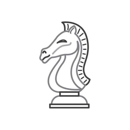 A chess piece illustration. Illustration