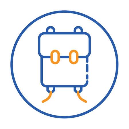 Une illustration de sac d'école. Banque d'images - 81484647