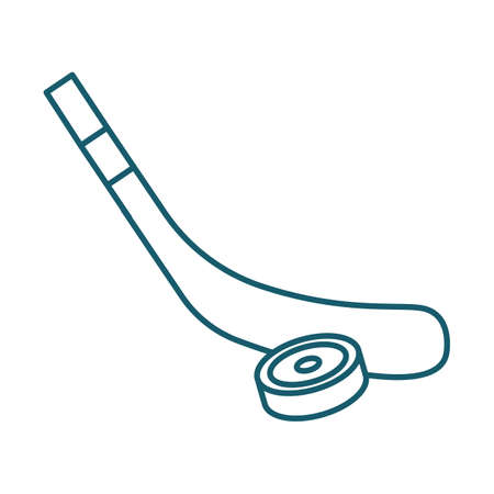 A hockey stick and puck illustration. Ilustrace