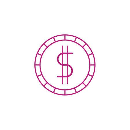 ドル硬貨  イラスト・ベクター素材