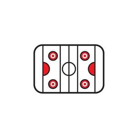Une illustration de patinoire. Banque d'images - 81483630