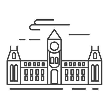 ottawa's parliament hill Banco de Imagens - 81533579