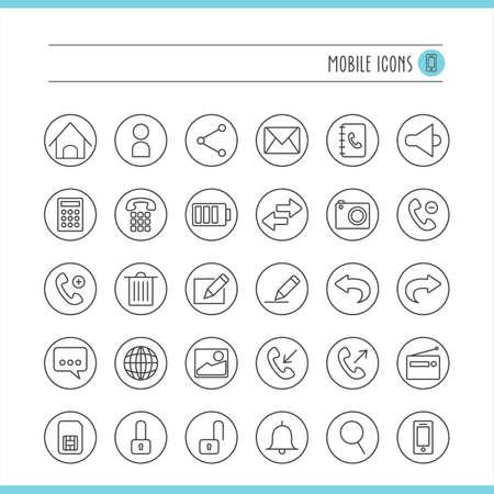 outgoing: mobile icon set