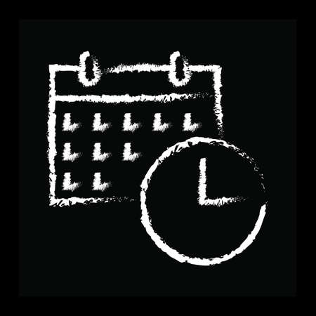Calendar and watch Иллюстрация