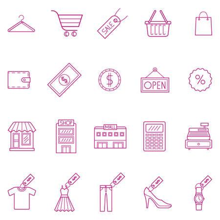 쇼핑 아이콘 모음