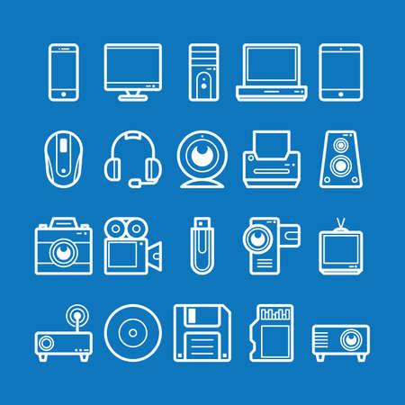 기술 아이콘 모음 스톡 콘텐츠 - 81484773
