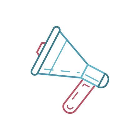 Een megafoon illustratie.