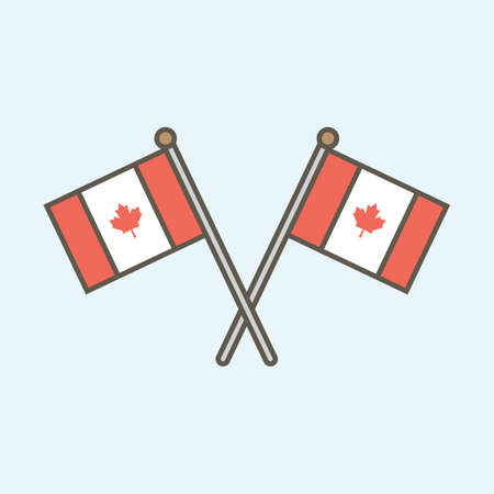canada flags