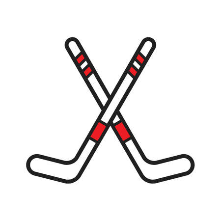 Ice hockey sticks illustration. Illusztráció