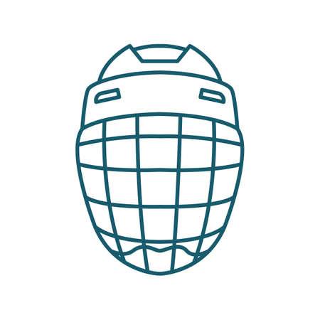 A goalie helmet illustration. Ilustração