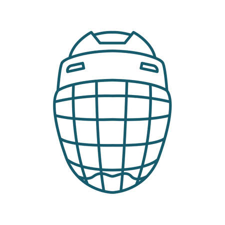 A goalie helmet illustration. Illustration