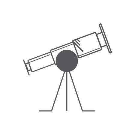 Een telescoopillustratie. Stockfoto - 81484666