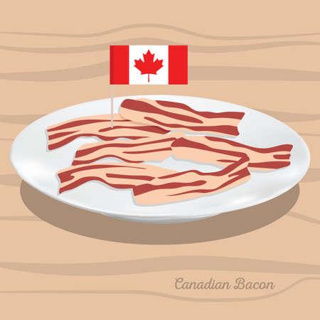 캐나다 베이컨 그림입니다. 일러스트