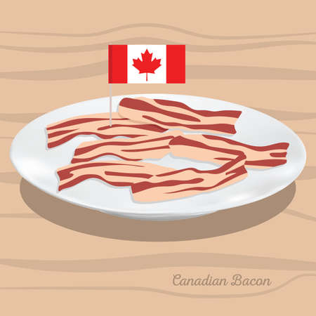A canadian bacon illustration.