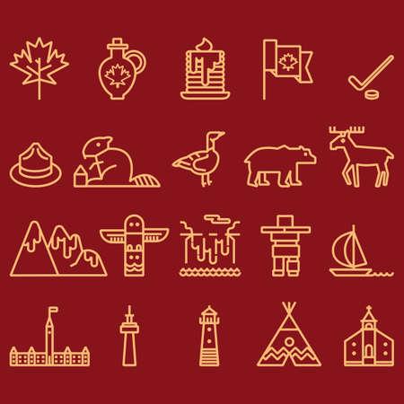 canada icon set Ilustração