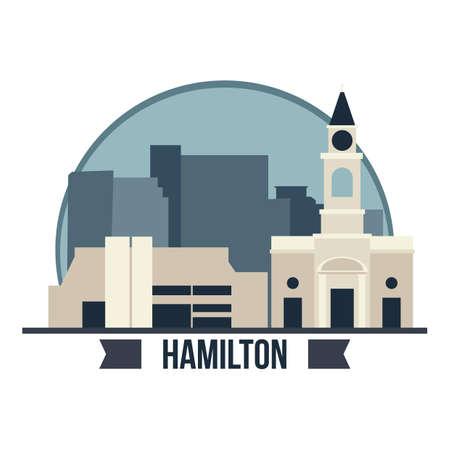 Art gallery of hamilton illustration. Illustration