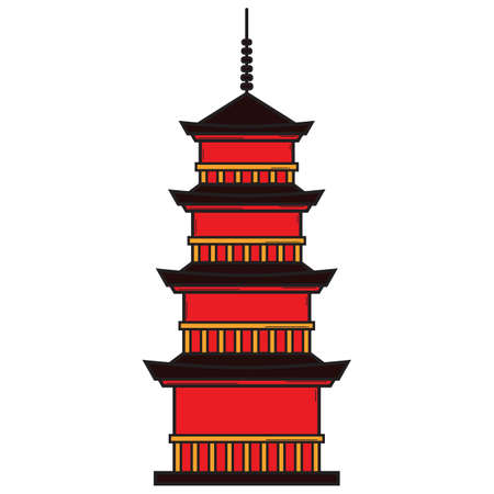 pagoda Ilustração
