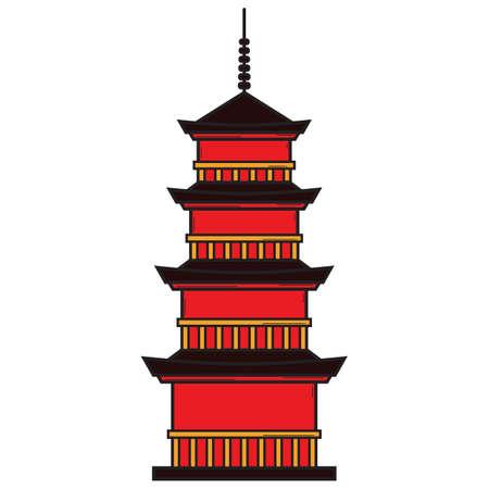 pagoda Illustration
