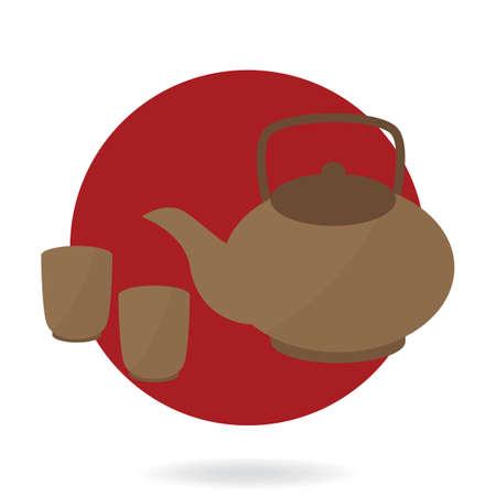 teapot with tea cups
