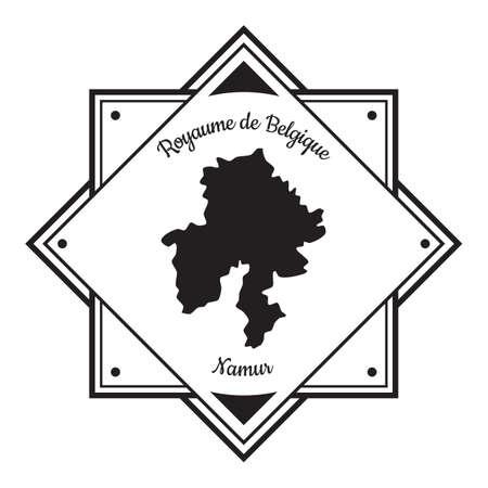 Namur지도 라벨