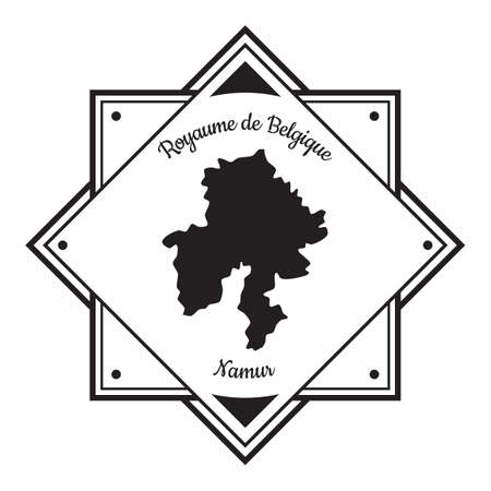 Namur map label