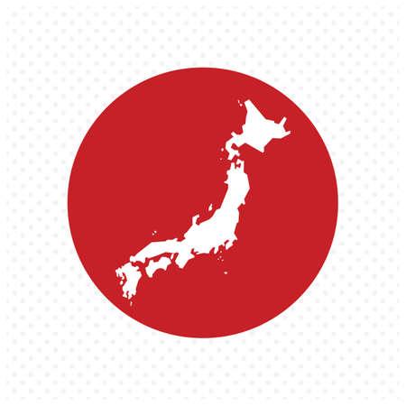 Japan kaart Stockfoto - 81484491