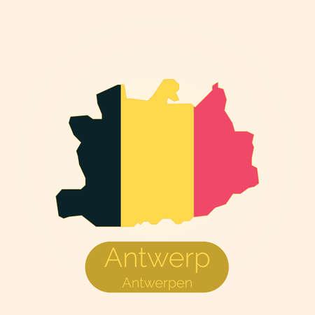 Antwerpen kaart Stock Illustratie