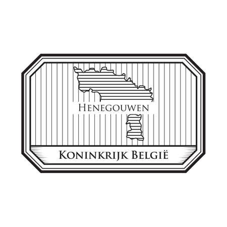 Mappa di Henegouwen Archivio Fotografico - 81534696