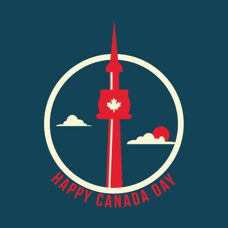 happy canada day label Illustration