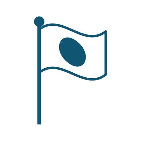 japan flag 向量圖像