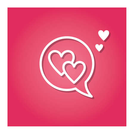 speech bubble with hearts