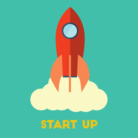 Start up concept Ilustrace