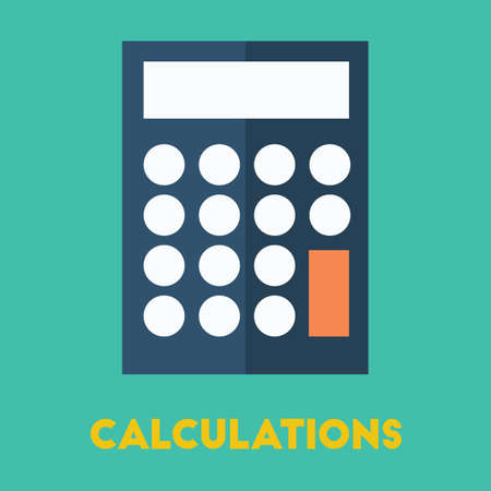 Calculator illustration. Banco de Imagens - 81534551
