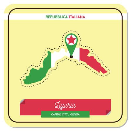 liguria map Stock Vector - 81534360