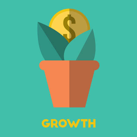 Capital growth concept.