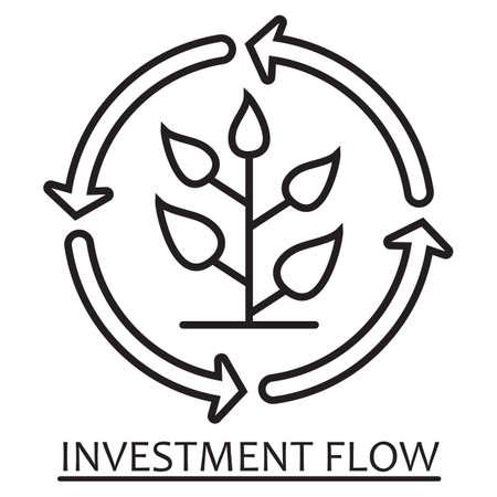 Investment flow concept. Ilustracja