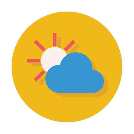 cloud sun icon