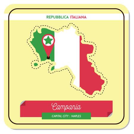 カンパニア州地図