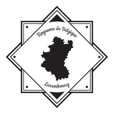 Luxemburg kaart label