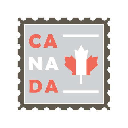 canada postal stamp Illustration
