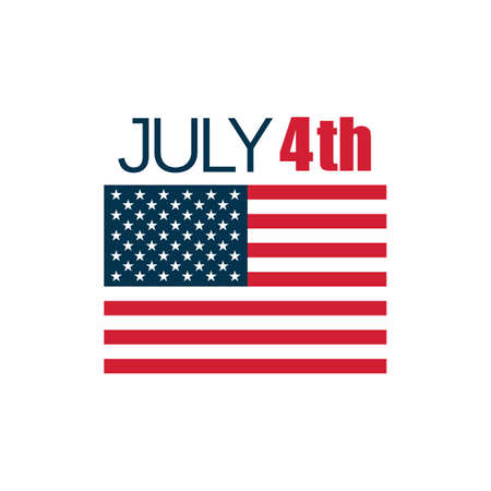 us independence day and flag
