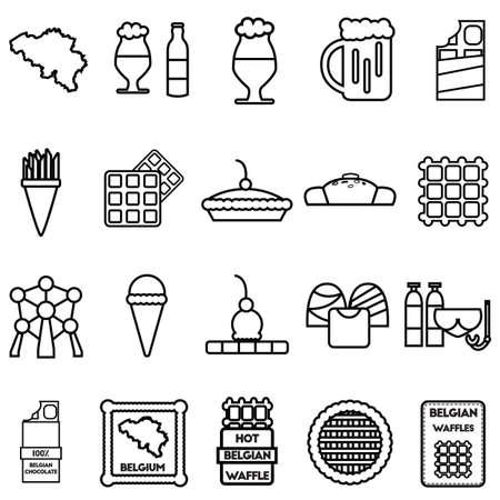 Set of belgium icons