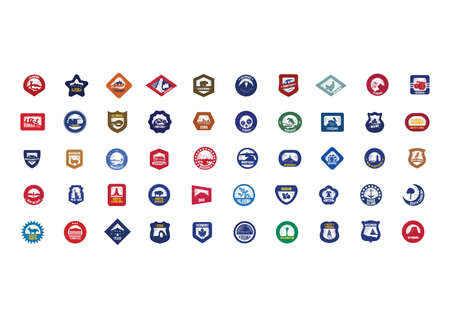 Collection of USA icons Иллюстрация
