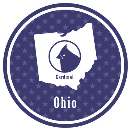 ohio state map with cardinal